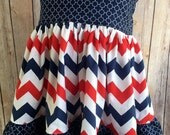 Girl Fourth of July Dress, Baby Fourth of July Dress, Girl July Fourth Dress, Infant July Fourth Dress, Red/Blue/White Dress
