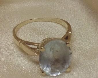 3 Ct. AQUAMARINE 14k Gold Ring