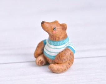 Miniature Bear Animal Figurine Sculpture, Animal Totem