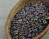 20g Czech seed beads Mixed iris bronze seed beads MIX-16 Czech rocailles Seed bead soup seed beads last