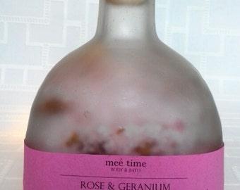 Rose & Geranium Handmade Bathsalts