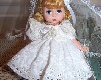 First Communion doll ( in eyelet dress) Madame Alexander occasions----Legends#2