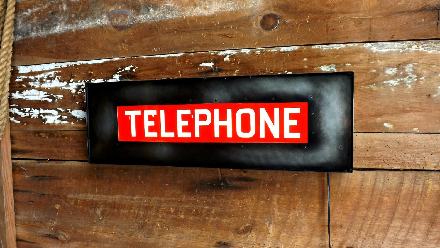 telephone sign light box phone booth marquee by hitandmisslimited. Black Bedroom Furniture Sets. Home Design Ideas