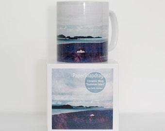 "Scottish Landscape Art Mug.  Ceramic mug featuring ""The Summer Isles from Achiltibuie"""