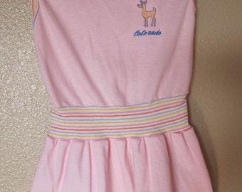 1980's Pink Tennis Style Colorado Dress Size 4T