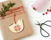 DIY Kit // Cross Stitch Ornament // Scandinavian Inspired Folk Art Bird // Modern Christmas Ornament