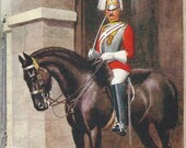 RESERVED FOR A - Royal Horse Guard - Vintage 1920s Artist-signed 1st Life Guards Household Cavalry Postcard
