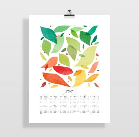 Art Teacher Calendar : Wall calendar large modern art