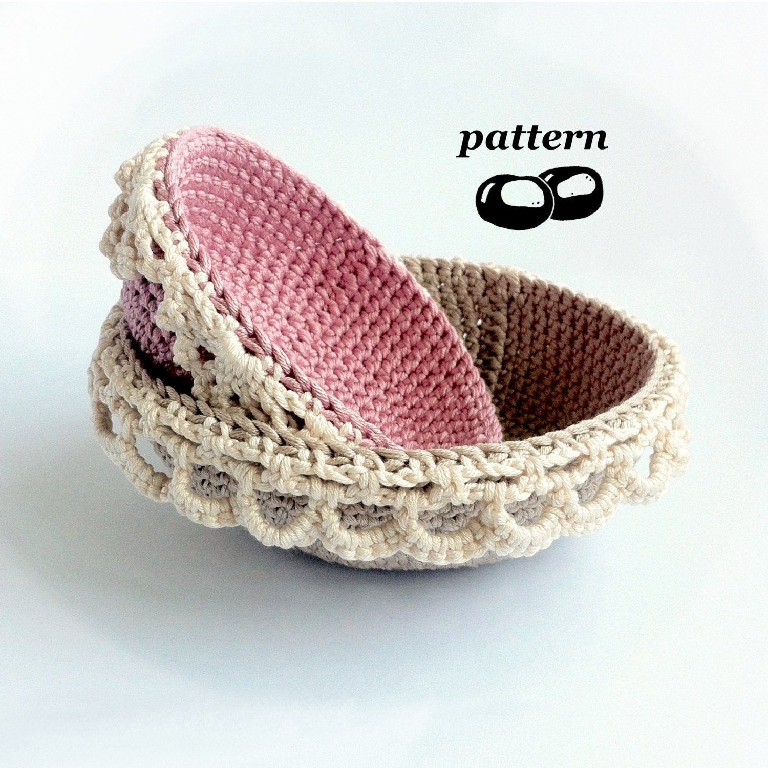Nesting Crochet Bowls Pattern / Stacking Bowl Pattern