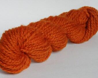 Burnt Orange Wool Chunky Yarn Skein 50g