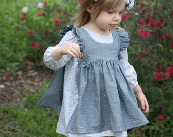 Primrose Pinafore PDF Pattern - 6m, 12m, 18m, 2t, 3t, 4t, 5, 6, 7, 8, 10, 12, 14 Girls Pdf Sewing Pattern
