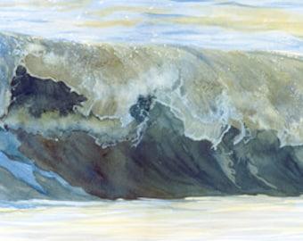 Long wave Watercolour Giclée print