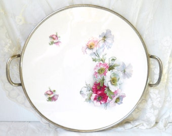 vintage porcelain tray cake plate serving tray serving platter vintage porcelain tray serving dish serving tray shabby chic vintage