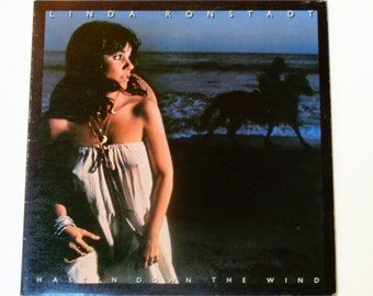 "Linda Ronstadt - Hasten Down the Wind - ""Someone to Lay Down Beside Me"" - Asylum Records 1976 - Vintage Gatefold Vinyl LP Record Album"