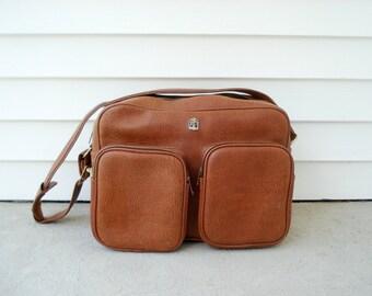 Vintage weekend bag - caramel brown