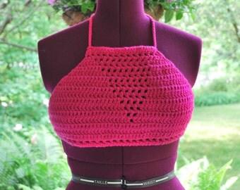 Crochet Summer-halter-crop Top