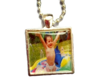 Photo Pendant Tray Necklace or Keychain