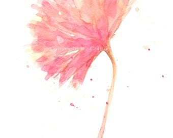 Fine art watercolor painting, flower art, CARNATION WATERCOLOR PRINT, giclee print, flower interest