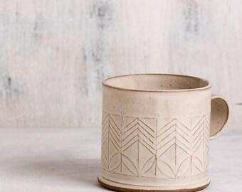 Ceramic mug, White coffee cup, Modern tea Cup, White Ceramic Cup,Minimalist coffee cup,Hand built ceramic cup,Chocolate cup, Modern ceramics