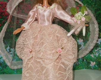 Barbie Blush Pink Princess Wedding Gown & Accessories