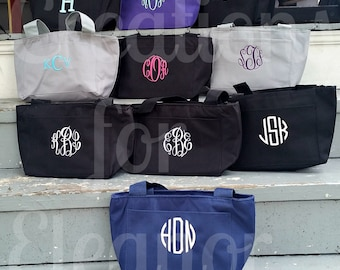 Monogram Lunch Tote, Insulated Lunch Tote, Lunch Bag, Lunch Box, Monogram Lunch Bag, Monogrammed Lunch Tote, Monogrammed Cooler, Monogrammed