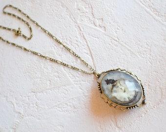 Steampunk Pendant Necklace, Clock Necklace, Mouse & Clock Necklace, Steampunk Clock Jewelry, Victorian Steampunk Necklace