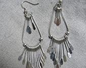 80s Silver Gypsy Earrings - 3.5 Inches Long