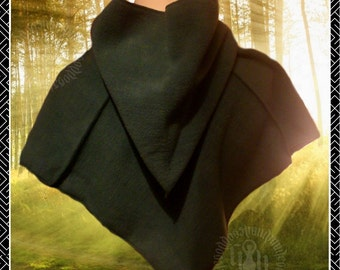 Medieval Hood, polar fleece, pixie point hood, LARP, Renaissance, Pagan,