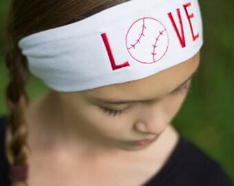 Baseball Headband, Sports Headband, Baseball Team, Baseball Gift, Baseball Player, Baseball Theme, Baseball Sports Band, Baseball Head band