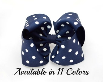 Girls Hair Bows, Navy Hair Bow, Toddler Hair Bows, 5 Inch Hair Bow, Girls Bows, Hair Bows, Hair Bows for Girls, Alligator Clips, 500