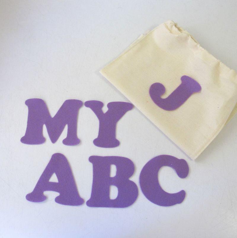 Felt abc set felt board pieces felt letters fabric letters for Flannel board letters