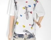 Squirrel Shirt New Fashion Squirrel Art Mountaineering Animal Style Front Short Than White T-Shirt Crop Top Tee Shirt Screen Print Size L