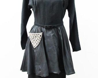 1940s Peplum Dress with Diamond Pocket