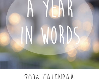 2017 Calendar - Quotes Photography New Year Desk / Wall / Office Accessory Decor Inspiration Motivation