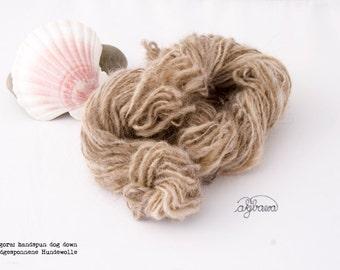 Collie handspun chiengora / dog down yarn