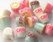 Heart Latte Cafe Mug Cups - 5 pcs   Kawaii Decoden Supplies   Resin Cabochons   Miniature Sweets   DIY Phone Case