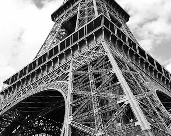Paris France Photography - Eiffel Tower - Tour Eiffel - Travel - City of Light - Fine Art Photograph Print - Black and White - Home Decor