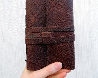 Leather Journal Personalize Journal Handbound Journal, Blank leather notebook, sketchbook or recipe book