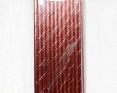 Rose Gold Foil Straws (24) Rose Gold Straws Straws- Rose Gold Wedding Straws-Party Straws- Rose Gold Decor- Meri Meri