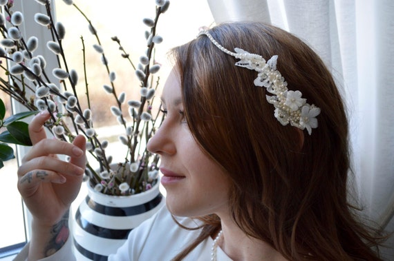 Bridal Headband, Wedding Hairpiece, Hair Jewelry, Hair Accessories, Vintage style
