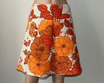 Boho Skirt from 70s fabric