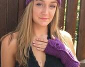 Plum Purple Headband . Tu...