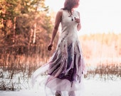 Alternative wedding dress Bohemian wedding dress  Felt bridal dress