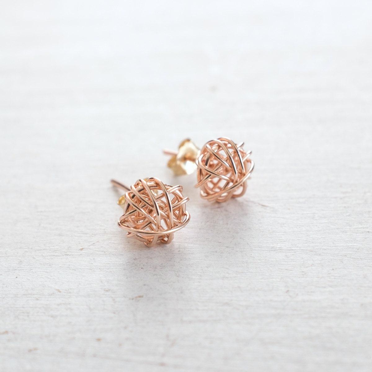 rose gold stud earrings rose gold or silver gold earrings. Black Bedroom Furniture Sets. Home Design Ideas