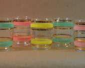 Pastel tumbler mid-century juice or shot glasses Mad Men Austronaut wives