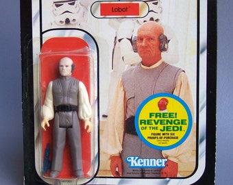 Vintage Star Wars Off White Arms Lobot MOC New in Packaging Revenge of the Jedi Offer