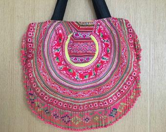 Sunisa Handbag Hmong Tribal Fabric Tote