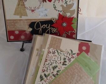 "Premade Christmas Photo Album KIT 10"" x 8"" inches"