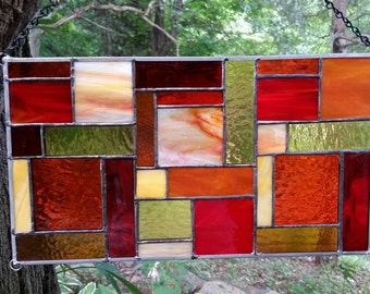 Stained Glass Colorful Panel E89