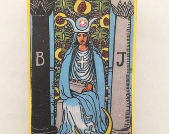 "Rider Waite Tarot ""The High Priestess"" Altered Matchbox"